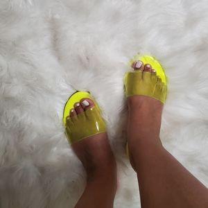Ladies Open Toe Slides